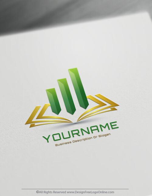 Gold luxury bookkeeping logo maker