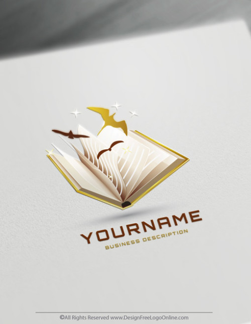 Golden book logo maker online