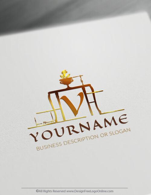 luxury interior designer logo maker