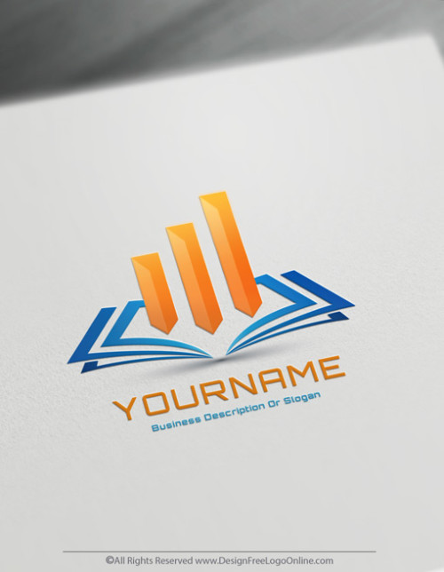 Easily download your modern Bookkeeping Logo fast.