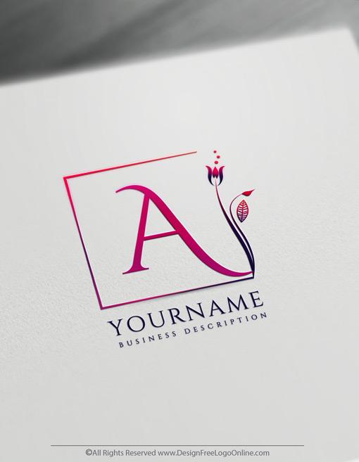 Simple Flower Logo Monogram Maker