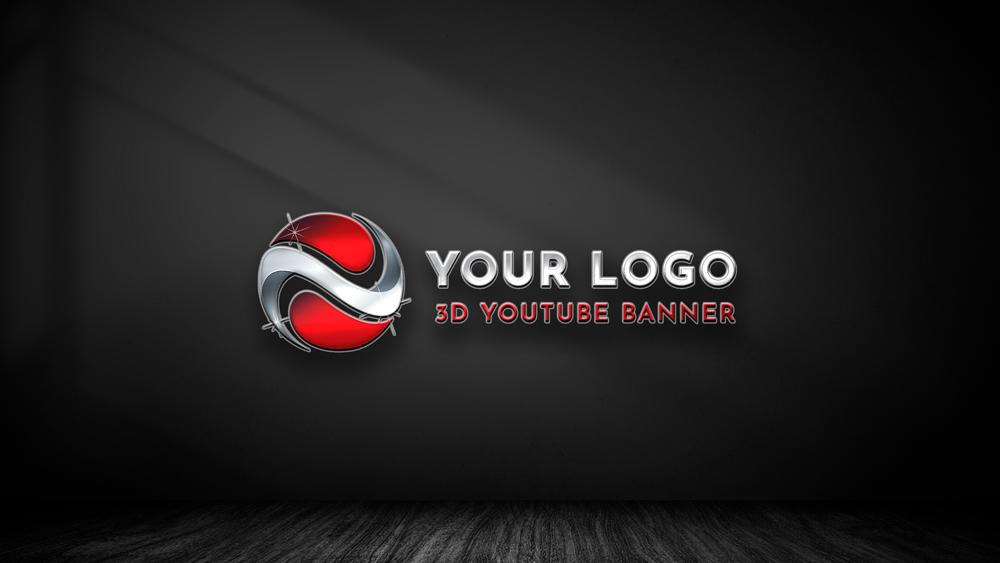 3D YouTube Banner Logo
