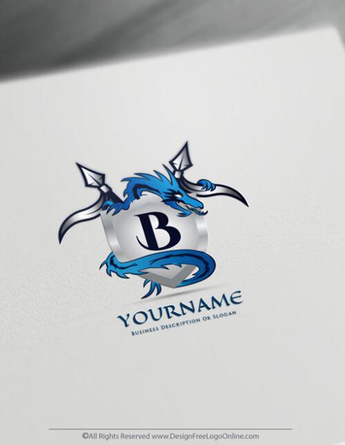 Blue dragon symbol designer