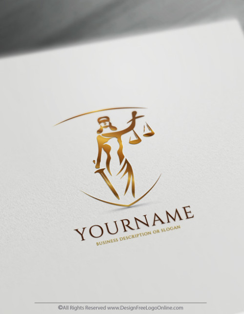 Build A Law Firm Brand With Our Lady Justice Lawyer Logo Maker