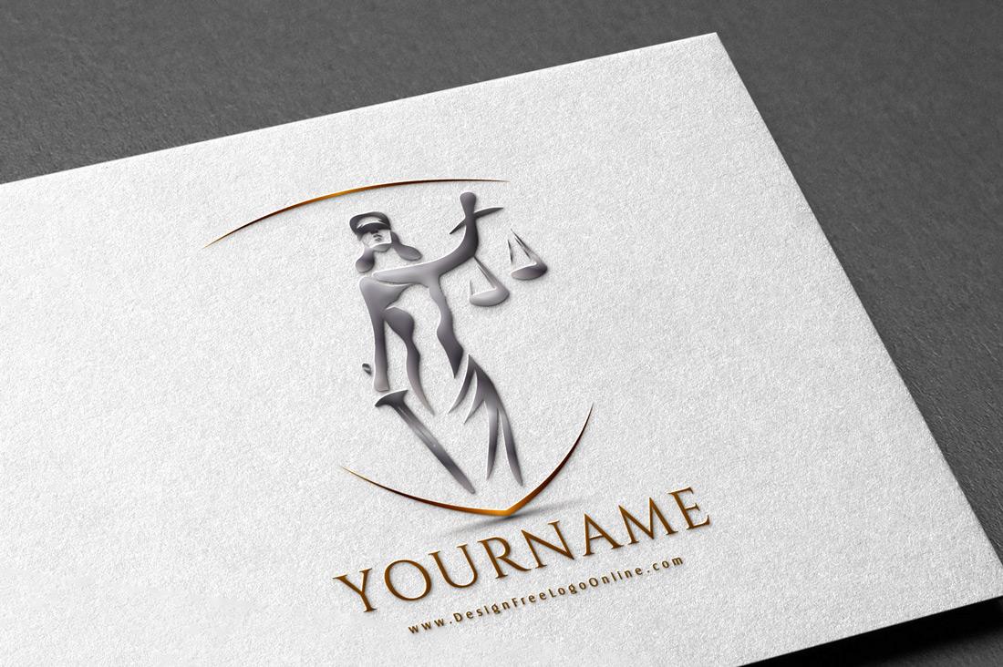 luxury Law firm Logo design Lady Justice Goddess Themis