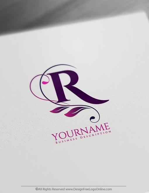 Online Floral Monogram Maker