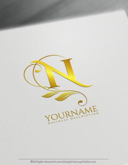 Golden flowers logo Maker