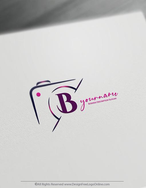 Modern feminine photography logo