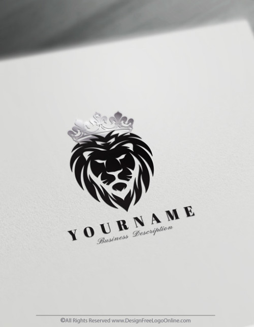 black lion head with silver crown logo