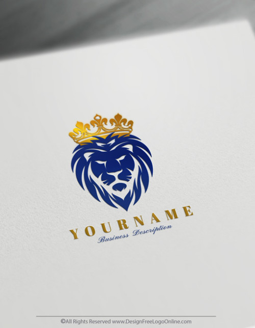 Create Logos For Free With Our Royal Lion King Logo Maker