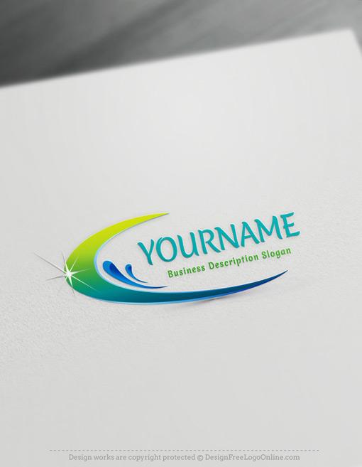 eco nature clean water drops logos