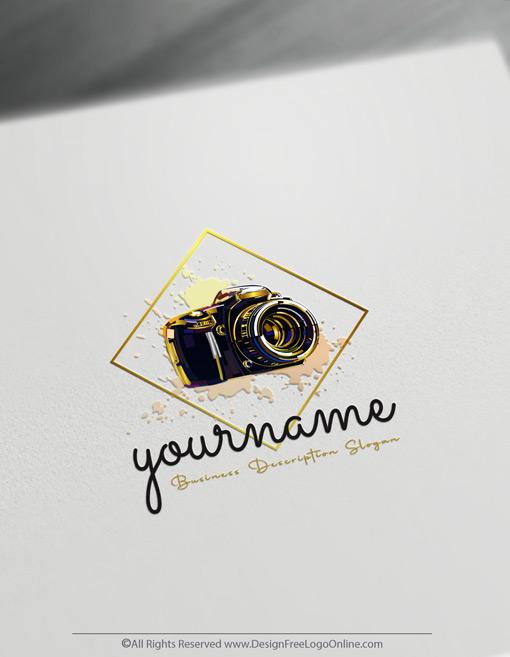 Luxury gold photographer Logo