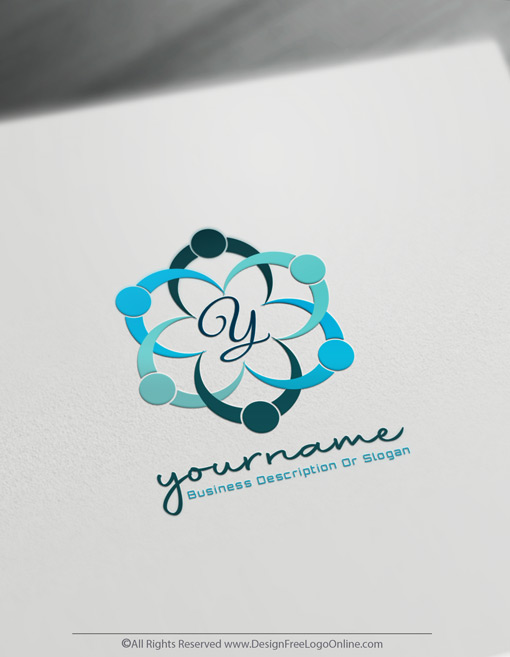 abstract group logo design