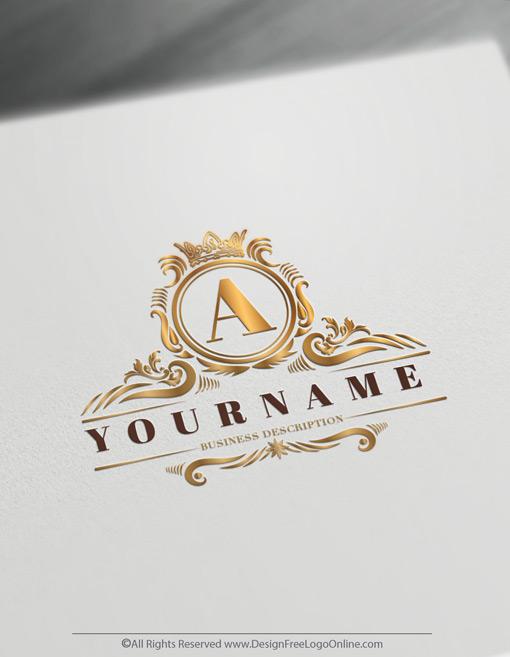 luxurious logo Monogram Maker with vintage crown