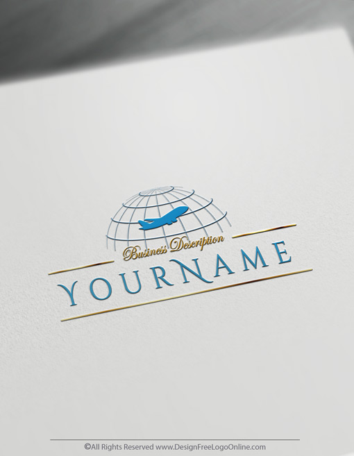 Create a logo Of Aircraft free online - without registration
