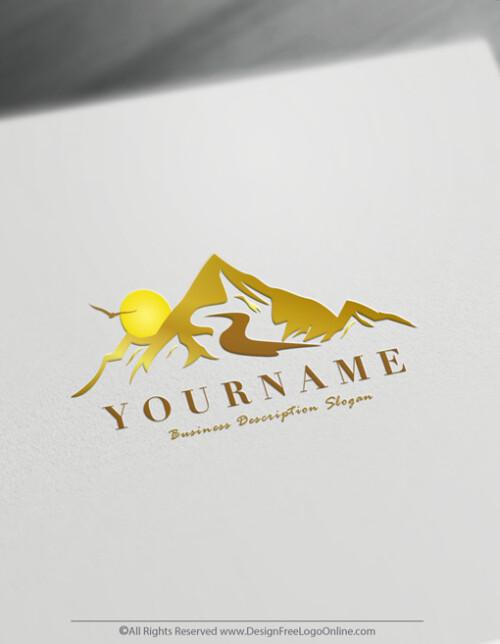 Golden Mountains Logo Maker