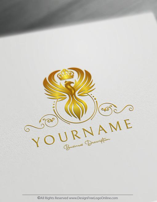 online Golden phoenix logo maker